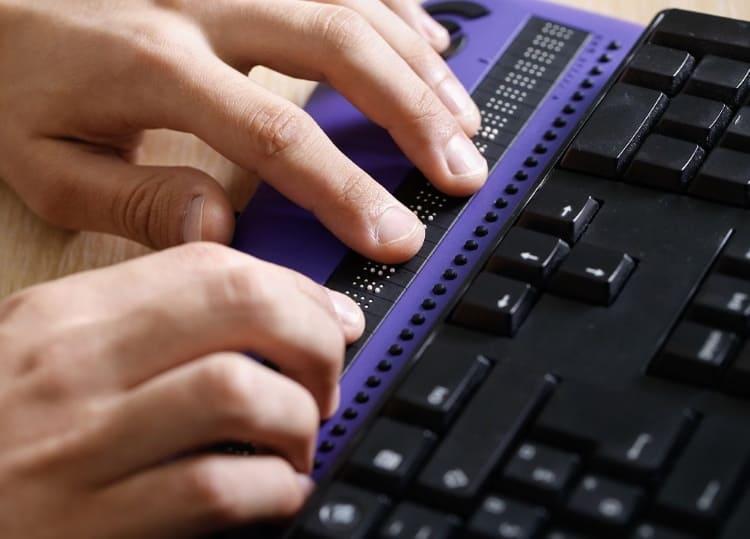 Accessibilità Audio Professionale Barra Braille